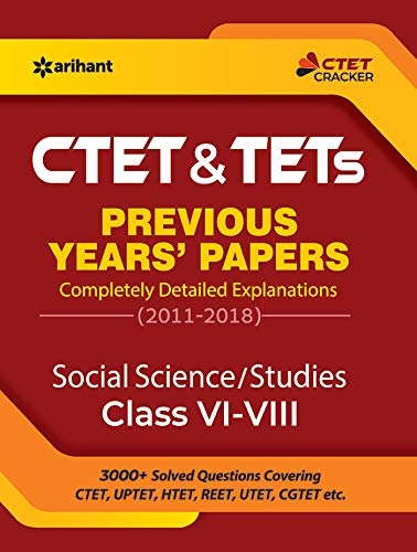 CTET & TETs Previous Year Papers Class 6-8 Social Science/Studies