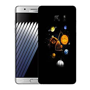 Snoogg Fish Planet Designer Protective Back Case Cover For SAMSUNG Galaxy NOTE 7