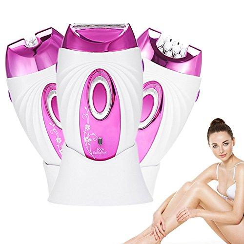 Epilierer der Frauen, wieder aufladbarer nasser u. Trockener Dame-Haar-Rasierer-wasserdichte Multifunktionsbikini-Linie Fahrwerkbeine-Achselhöhlen-Körper-Trimmer-Tweezing-Scheiben Remover-Rasiermesser