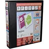 Elba Panorama Leverless Arch Binder PVC 2 Ring Size 40mm Black A4 Ref 400008953 [Pack 1]