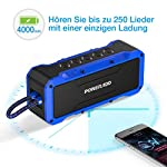 POWERADD Bluetooth Lautsprecher mit 4 StereoTreibern (2X13W+2x5W) 360 Grad Sound, Wasserdicht IPX7 Außen Lautsprecher…