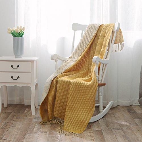 nordeco Überwurf Decke Plaid Soft Cozy Mikrofaser 100% Acryl verwendbar Decke für Bett/Stuhl/Sofa 51