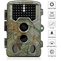 Trail Camera, iado Wildlife Camera Night Vision Hunting Cameras 1080P HD/120°Wide Angle Outdoor Infrared, 20M Detection Distance/16MP/0.2s Trigger Speed Game Camera