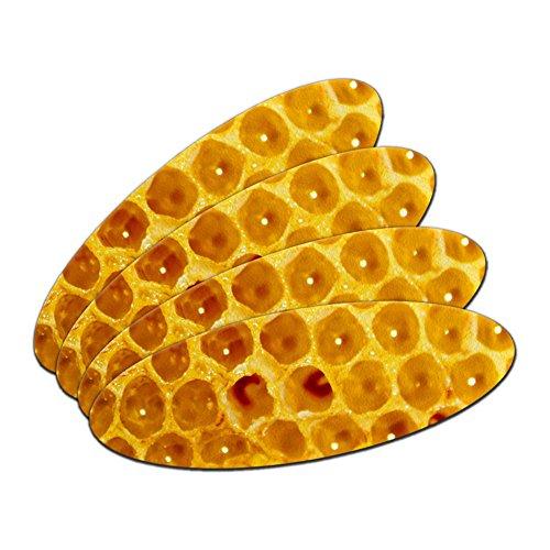 –Bee doppelseitig oval Nagelfeile Emery Board Set 4Stück (Bee Nägel Set)