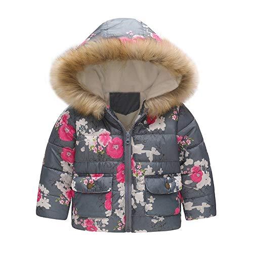 Baby-Kapuzen Mantel,Hawkimin Baby Mädchen Schmetterling Drucken Baumwollmantel Parka Daunenjacke Snowsuit Winter ()
