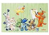 Die Lieben Sieben Kinderteppich | Teppich für Kinderzimmer Mädchen und Jungen lustige Tiere, Größe: 140x200 cm