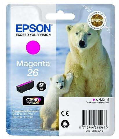 Epson Polar Bear 26 Ink Cartridge - Standard, Magenta