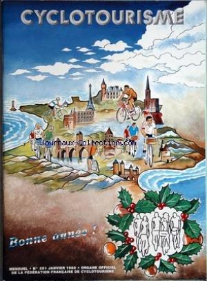 CYCLOTOURISME [No 351] du 01/01/1988 - organe officiel de la federation francaise de cyclotourisme