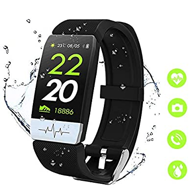 Fitness Tracker Smart Watch - Heart Rate Blood Pressure Sleep Monitor with IP68 Waterproof, Calorie Counter Pedometer Watch for Kids Women Men from MTJJ