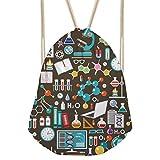 WHLBB turnbeutel Double Shoulder Bag Tasche Polyester Seil Kordelzug Rucksack Umweltfreundliche Lift Sporttasche. C