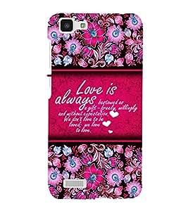 Love Is Always Best 3D Hard Polycarbonate Designer Back Case Cover for VIVO Y27L :: Y 27L