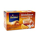 Meßmer Wintertraum, Zimtstern/Orange 20 TB, 2er Pack (2 x 40 g Packung)