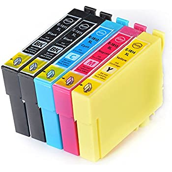 Compatible NON-Oem Epson Expression XP-305 Ink Cartridges 2X Black 1X Cyan 1X Magenta 1X Yellow (5-Pack)