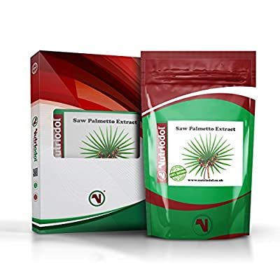 SAW PALMETTO EXTRACT - 60 Tablets   Supplement for Men and Women - For Maintaining Healthy Prostate & Urinary Tract - Used for hair restoration, sexual vigour, breast enhancement and as a nutritive tonic - Suitable for Vegetarians & Vegans. by Nutriodol