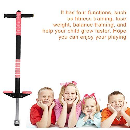 GOTOTOP Kinder Pogostick Hüpfstange Hüpfstab Sprungstange Springstock 2-Modell 4-Farben geeignet für die Kinder ab 8 bis 10 Jahren (unter 40kg), Sport und Spaß (Rot)