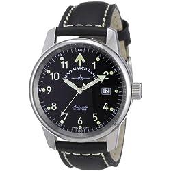 Zeno Watch Basel Unisex-Armbanduhr Classic Pilot Analog Automatik Leder 6554RA-a1