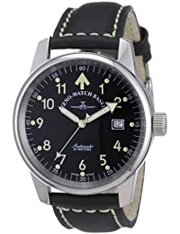 Zeno Watch Basel Men's Automatic Watch Classic Pilot 6554RA-a1 with Leather Strap