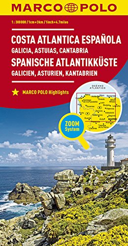 MARCO POLO Karte Spanien Spanische Atlantikküste 1:300.000: Galicien, Asturien, Kantabrien (MARCO POLO Karten 1:300.000)