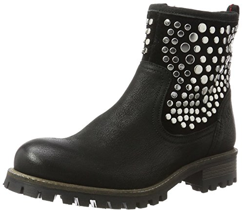 s.Oliver Damen 25453 Biker Boots, Schwarz (Black), 39 EU