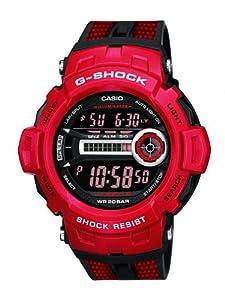 Reloj de caballero CASIO GD-200-4ER de cuarzo, correa de otro material color rojo de Casio