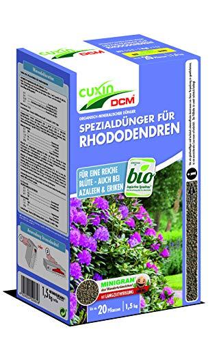 Cuxin Bio Rhododendrondünger für ca. 20 Pflanzen⎜organischer langzeit Dünger⎜für Rhododendron und Azaleen⎜(1,5 Kg) - Bio-dünger 20 20 20