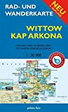 Rad- und Wanderkarte Wittow, Kap Arkona: Mit Dranske, Wiek, Altenkirchen, Putgarten, Breege und Juliusruh. Maßstab 1:30.000. Wasser- und reißfest.