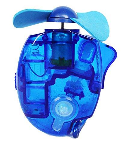 Foto de Haodou mini ventilador de mano de vapor de agua de niebla alimentado por batería mini ventilador de aire para el hogar de viajes al aire libre (azul)