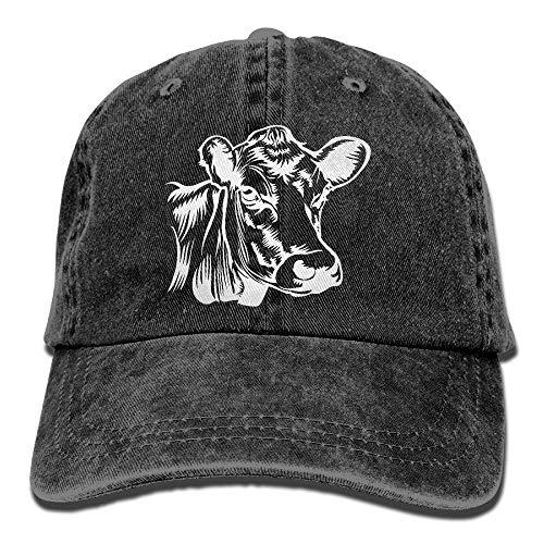 Cap Cow Clip Art-1 Men Women Snapback Caps Adjustable Dad Hat ()