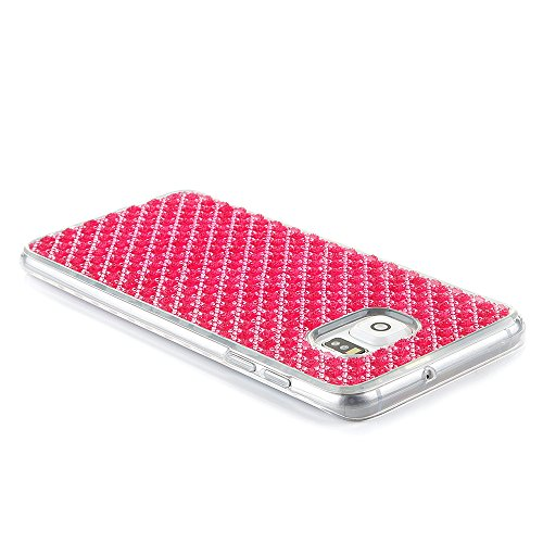 Cuitan Premium Quality TPU Doux Housse Case pour Apple iPhone 6 plus / 6s plus(5.5 Inch), Mode Givré Diamant Shiny Bling Slim Protecteur Etui Case Coque Case Cover Housse pour iPhone 6 plus / 6s plus( Rose Rouge