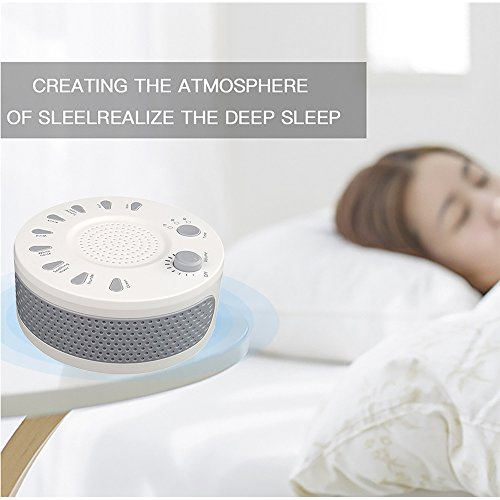 White Noise Machine, GAKOV GAGH-003 Soothing Sleep Therapy Sound Spa  Relaxation Machine with 9 Nature SoundAuto-off Timer & Night Light for  Baby,