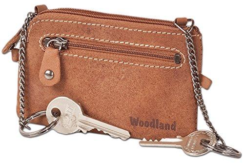 woodland-bolso-dominante-de-cuero-con-2-llaveros-hecha-de-piel-de-ante-suave-sin-tratar-en-cognac