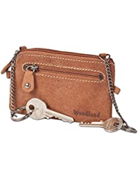 """""""Woodland"""" bolso dominante de cuero con 2 llaveros hecha de piel de ante suave, sin tratar"""