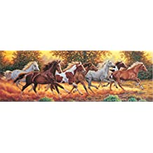 Clementoni Puzzle 31300 - Cavalli in corsa - 1000 pezzi High Quality Collection Panorama