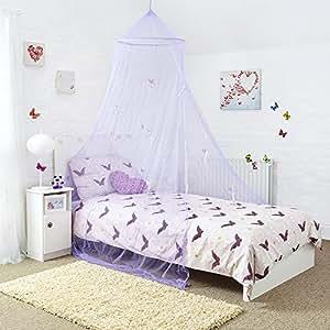 Mosquito Nets 4 U Ciel de lit Princesse/papillon Violet