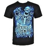 Official Avenged Sevenfold Chained Skeleton T Shirt (Schwarz)