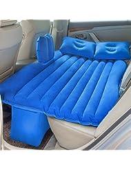 JOLVVN Materasso Gonfiabile Letto Aria Auto Materassino, Airbed SUV Campeggio/Viaggio Automobile Sedile Posteriore Pompa Elettrica Gonfiatore Gratis 2 Cuscini (Adatti più di 90% Automobili) Blu