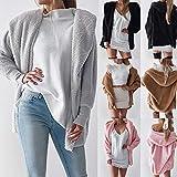 OIKAY Winter Jacke Strickjacke Mantel Outwear Jumper Womens Ladies Hooded Fluffy Coat Pullover Damenjacke Sommerjacke Damen