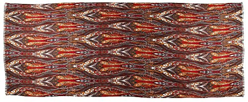 écharpe femme foulard imprimé paisley- disponibles en plusieurs couleurs rouge marron imprimé paisley