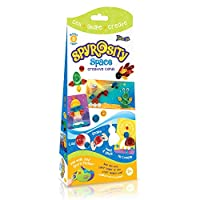 Spyrosity Space - Thrilling Space Theme Pack For Fun and Easy Quilling Activity - Contains 8 Creative Self-adhesive Cards, Sticky-back Quilling Strip & Mini Sizing Board- For Kids Age 5 & Above