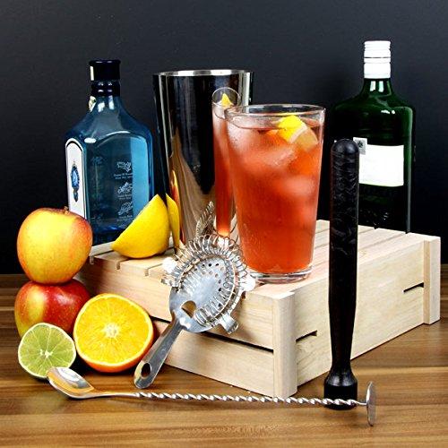 % Starter Set Boston Shaker per cocktail da bar @ drinkstuff   contiene professionale boston shaker per cocktail in latta e vetro, cucchiaio per mescolare, pestello per cocktail e strainer Hawthorne–Ideale per Cocktail principianti by drinkstuff comprare on line