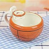 Tassen & Untertassen Tassen- & Untertassensets Kreative Basketball Fußball Tasse Cartoon Becher Keramik Kind Nette Milch Kaffeetasse Frühstück Müslischale