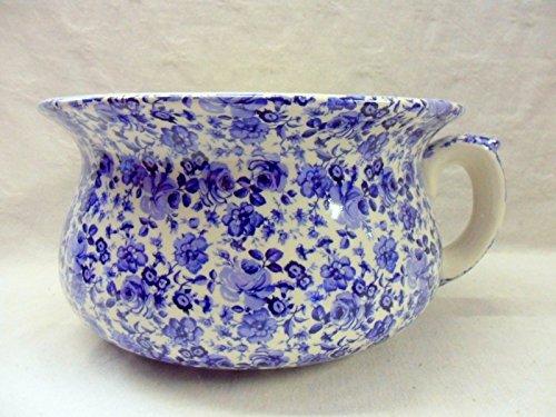 décoratifs Ditsy Rose bleue Chintz Design Pot de fleurs Pot de chambre