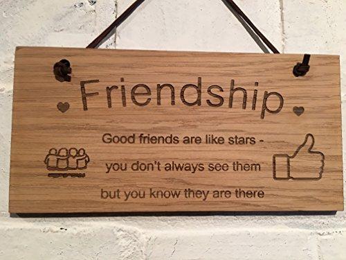 """Amistad Shabby Chic cartel """"amistad. Buenos Amigos Son Como Estrellas. You don 't siempre verlos, pero sabes que están ahí. Gran regalo para amigos y compañeros de trabajo."""