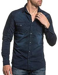 BLZ jeans - Chemise bleu fonçé jogg-jeans