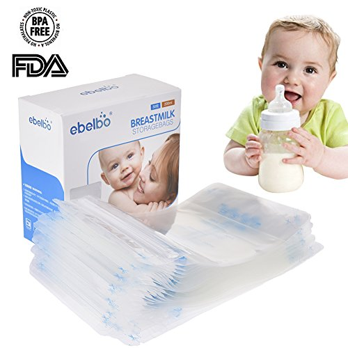 Muttermilch Aufbewahrungsbeutel Muttermilch pre-sterilized Easy Freeze 200ml Dichtung Stillen Gefrier-Behälter mit auslaufsicherer vorsterilisiert Pack Infant Baby Container Genaue Messungen 30Stück olyethylene Lebensmittelqualität Kleinkind Sicherheit Tasche (Kleinkind-pulver)