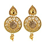 Kalyani Covering Gold Brass Kundan Earri...