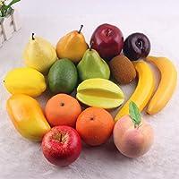 16 PCS/1 conjunto artificial plástico realista buscando frutas mixtas simulación plástico frutas decorativas Mostrar creativa Home Decor/enseñanza/Photography props