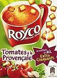 Royco Soupe Déshydratée Tomates à La Provençale & Croûtons à L'Ail Extra Croquants 3 Sachets de 20 cl - 75 g - Lot de 6