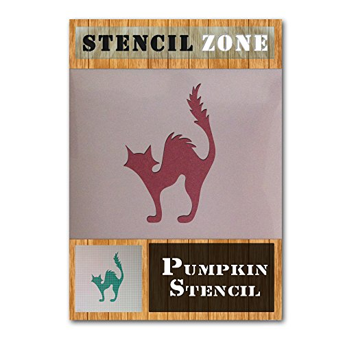Katze Halloween Mylar Gemälde Kürbis Art Wand Schablone Zwei A5 Size Stencil - XSmall