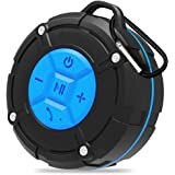 Haut-Parleur Bluetooth, Backture Enceinte Waterproof Douche Enceinte Mini Enceinte de Douche avec ventouses Microphone Mains Libres Téléphone Bluetooth 4.2 (Bleu)